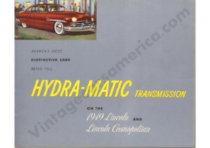 1949 Lincoln Hyda-Matic Transmission
