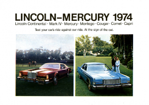 1974 Lincoln Mercury Full Line