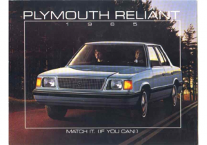 1985 Plymouth Reliant