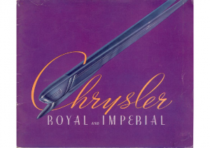1937 Chrysler Royal and Imperial