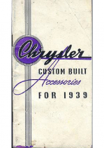 1939 Chrysler Accessories