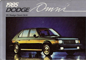1985 Shelby Dodge