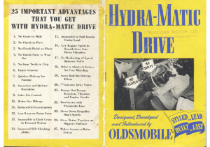 1940 Oldsmobile Hydra Matic Drive