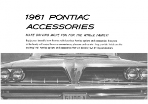 1961 Pontiac Accessories Catalog