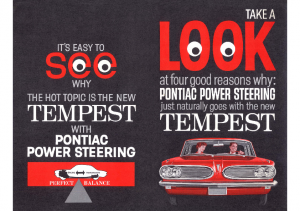 1961 Pontiac Tempest Power Steering