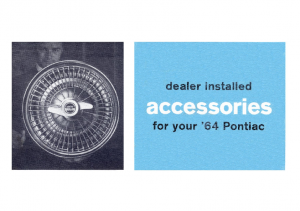 1964 Pontiac Dealer Installed Accessories Catalog
