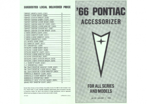 1966 Pontiac Mini Accessorizer Catalog