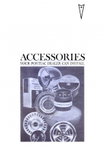 1967 Pontiac Pocket Accessories Catalog