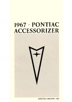 1967 Pontiac Pocket Accessorizer Catalog