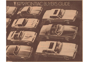1979 Pontiac Fact Sheet