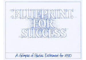 1980 Pontiac Blueprint For Success