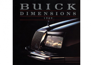1989 Buick Dimensions Mailer with Disks