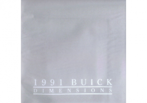 1991 Buick Dimensions Mailer with Disk
