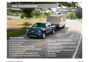 2016 Chevrolet Trailering Guide