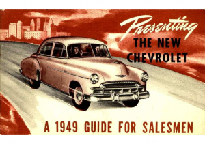 1949 Chevrolet Guide For Salesmen