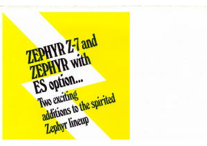 1978 Mercury Zephyr Z-7 and ES Options Pamphlet