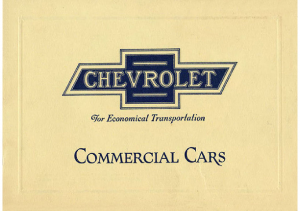 1923 Chevrolet Commercial Cars