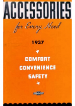 1937-Chevrolet Accessories Price List
