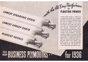 1936 Plymouth Business Models Foldout