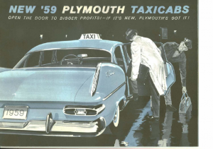 1959 Plymouth Taxi